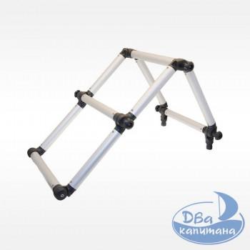 Лестница складная из алюминиевой трубы Ø32 мм