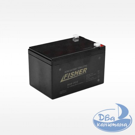 Аккумулятор для эхолота Fisher 12V 12Ah AGM