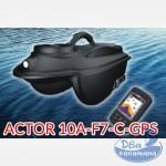 Кораблик прикормочный Boatman ACTOR 10A-F7-C-GPS (с цветным эхолотом Lucky FF718-LiC-W и автопилотом)