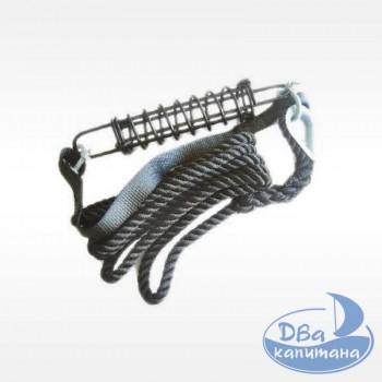 Швартовочная веревка с пружиной-амортизатором 7571203 (12х3 мм)