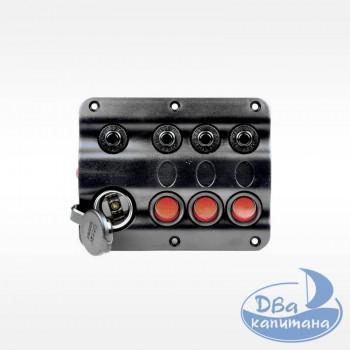 Панель переключателей на 3 кнопки + прикуриватель AAA 10027-BK