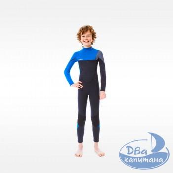 Гидрокостюм неопреновый Jobe Boston 3/2mm Wetsuit Kids Blue