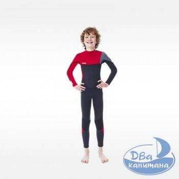 Гидрокостюм неопреновый Jobe Boston 3/2mm Wetsuit Kids Red