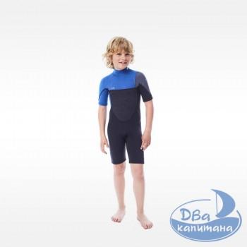 Гидрокостюм неопреновый Jobe Boston Shorty 2mm Wetsuit Kids Blue