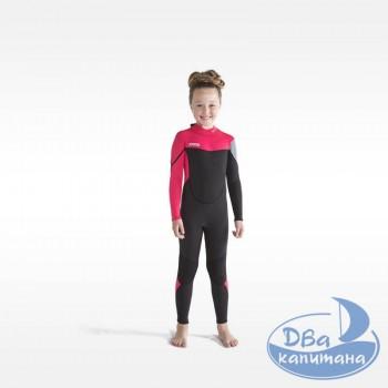 Гидрокостюм неопреновый Jobe Boston 3/2mm Wetsuit Kids Pink