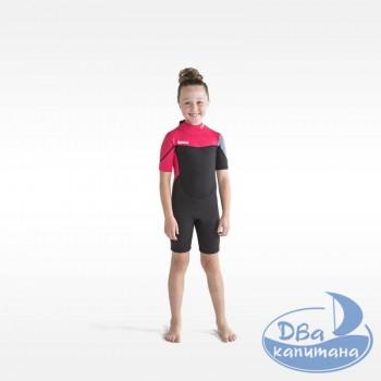 Гидрокостюм неопреновый Jobe Boston Shorty 2mm Wetsuit Kids Pink